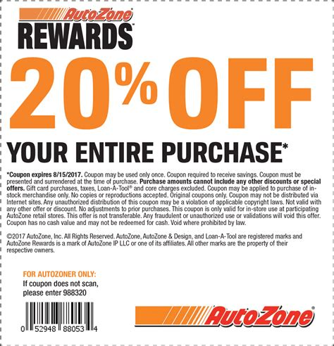 Pinned August 8th 20% Off At #autozone #thecouponsapp