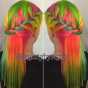 Best 25 Rainbow dyed hair ideas on Pinterest