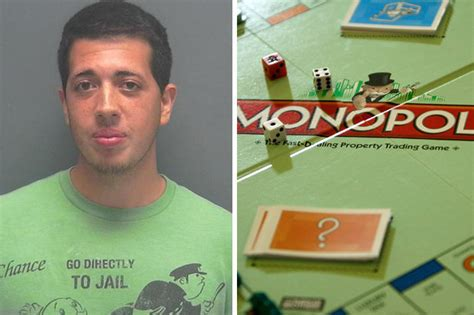 Man Dressed In Monopoly 'go Directly To Jail T-shirt Gets