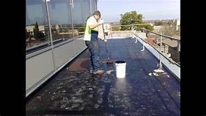 Waterproofing Flat Concrete Roof Using Liquid Rubber