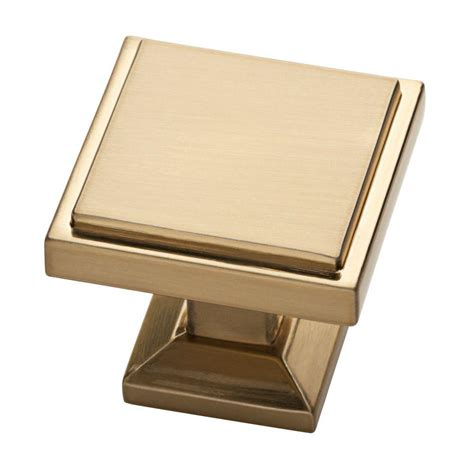 Square Cabinet Knobs by Liberty Classic Square 1 1 8 In 28 Mm Chagne Bronze