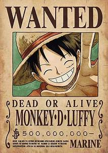 Póster One Piece WANTED Collection - Nueva recompensa ...