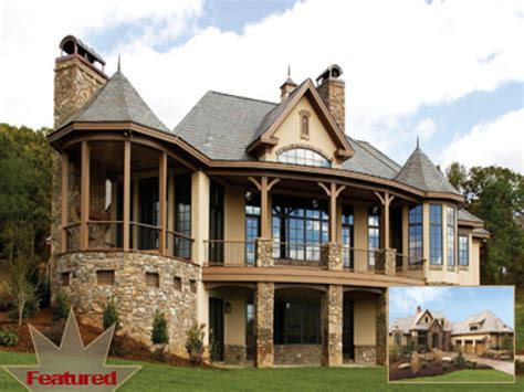 dream home house plans walkout basement french country house plans  european house plans