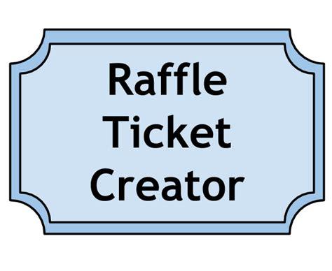 raffle ticket creator raffle ticket templates  word