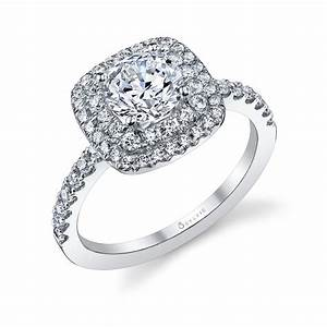 double halo diamond engagement ring sylvie With halo diamond wedding rings