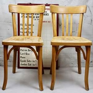 Chaise Bois Vintage : chaise bistrot emile baumann estampill bois industriel design vintage ~ Teatrodelosmanantiales.com Idées de Décoration