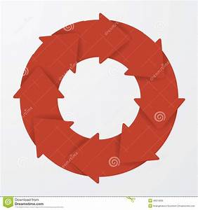 Vector Red Life Cycle Arrow Diagram  8 Steps  Stock Vector