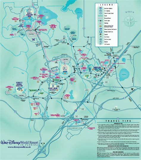 walt disney world map  disney resort area map