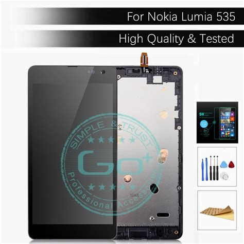 for microsoft lumia 535 lcd display frame screen touch