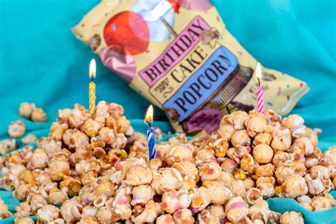 cake flavored popcorn snacks birthday cake popcorn