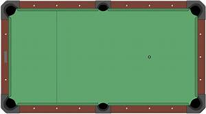 Cut Pool Table Diagram