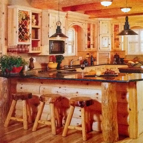 log cabin kitchen cabin decorating ideas pinterest