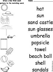 beach spelling worksheets enchantedlearningcom