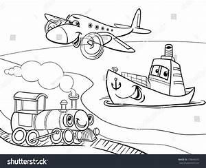 Black White Cartoon Vector Illustration Funny Stock Vector ...