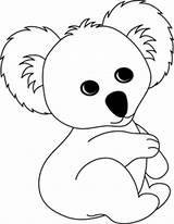 Koala Bear Coloring Pages Printable Animal Koalas Crafts Sheets Animals Sheet Clipart Template Craft Clip Cartoon Adorable Activities Joeys Colouring sketch template