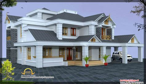 Luxury Home Design Elevation 4500 Sq. Ft. - Kerala home