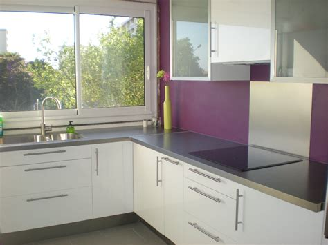 deco maison cuisine décoration cuisine violet