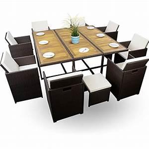 Gartenmöbel Set 8 Personen : 26 tlg polyrattan sitzgruppe braun w rfelsystem gartenm bel set 8 personen 8 4 1 xxxl top ~ Orissabook.com Haus und Dekorationen