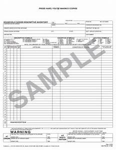 Clothing Inventory List Template Household Goods Descriptive Inventory Fill Online