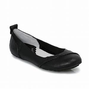 Hush Puppies Janessa Black Womens Flats Ballerina Shoes ...