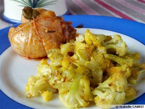 cuisiner du choux fleur chou fleur caramélisé au curcuma recette de cuisine