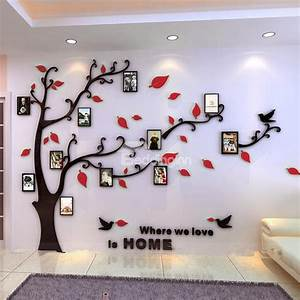 Photo Frame Tree Country Style Acrylic 3D Waterproof 11