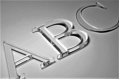 letters flat cut clear acrylic ashby trade sign supplies