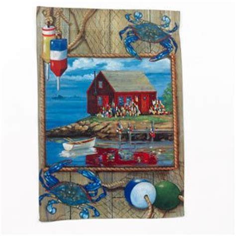 crab shack decorative large house flag