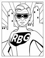 Coloring Rbg Pages Ruth Bader Ginsburg Notorious Printable Month History Feminist Dreams Adult Books Unicorn Superhero Cool Sheets Huffingtonpost Sheknows sketch template