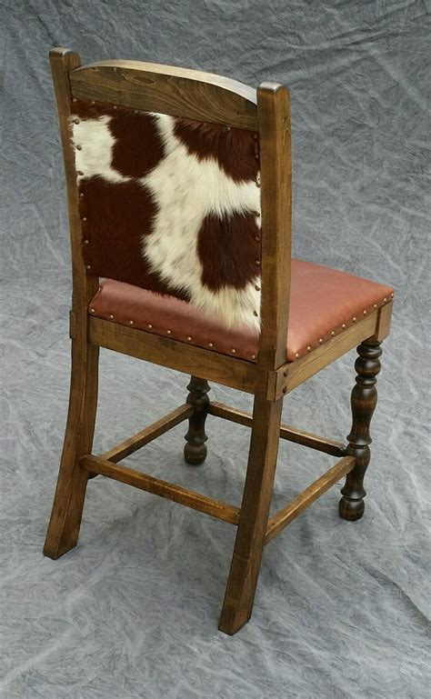 cowhide counter stool dining chair bar stool rustic