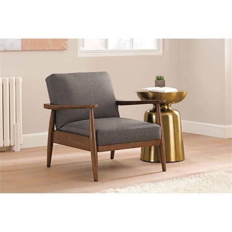 mid century modern chair grey style wood vintage