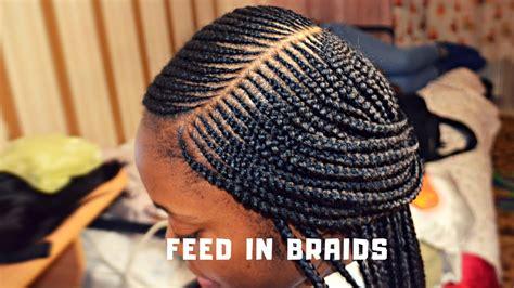 speed side feedin braids box braids youtube