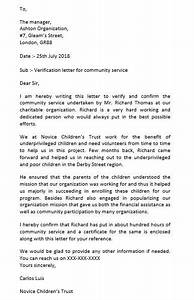 Recommendation Letter Scholarship Community Service Letter And How To Make It Perfectly