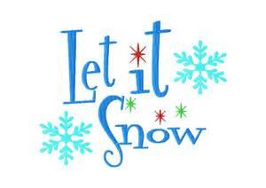 Let It Snow Clip Art Free
