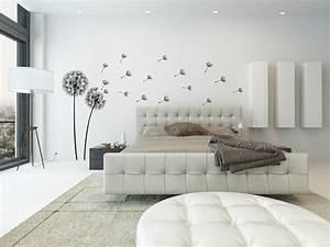 Bilder Für Schlafzimmer Wand : dekorieren in schwarz und wei ideen mit wandtattoos ~ Sanjose-hotels-ca.com Haus und Dekorationen