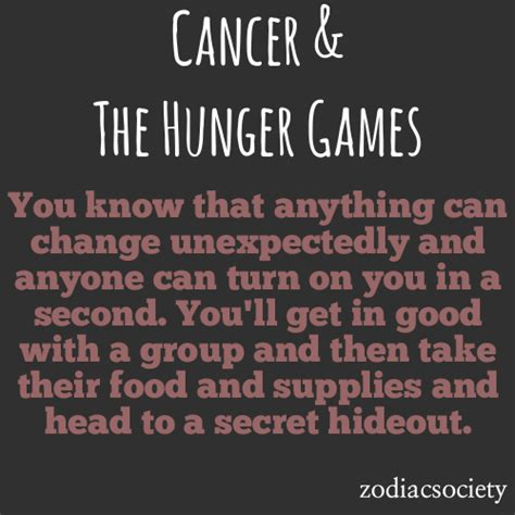 what does the hunger sign zodiac society