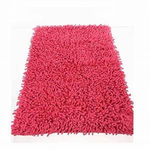 tapis de salle de bain 50x80cm framboise With tapis salle de bain rose