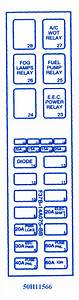 Mazda B-series Pickup 2 Dr 1997 Fuse Box  Block Circuit Breaker Diagram