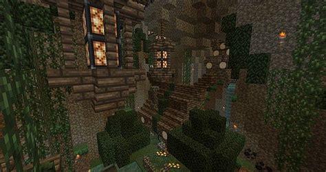 fantasy cottage cave survival built minecraft project