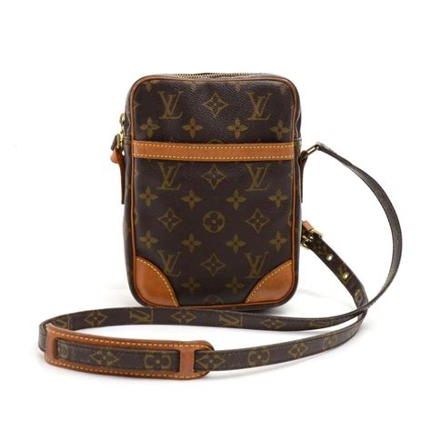 louis vuitton danube monogram crossbody brown coated canvas shoulder bag tradesy