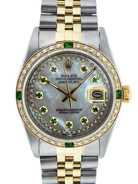 Rolex - Pre-Owned Rolex Mens Datejust Steel & 18K Yellow ...
