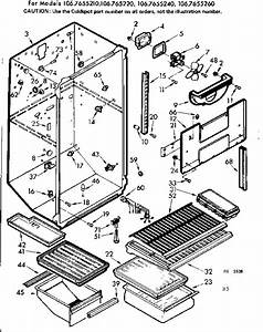 Kenmore 106 Refrigerator Parts Diagram