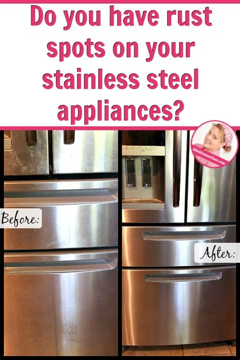 how do you clean a stainless steel kitchen sink dealing with rust stains on my stainless steel appliances 9866