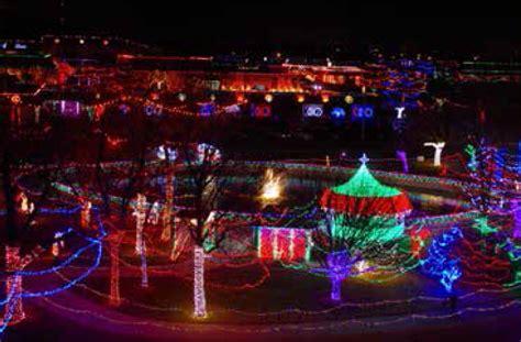 rhema christmas light display lights up broken arrow