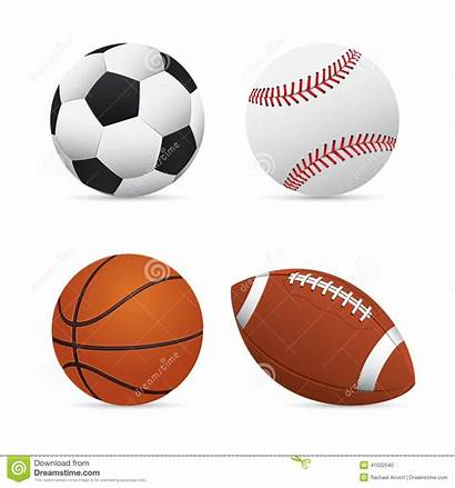 Basketball Soccer Baseball Football Calcio Pallacanestro Isolated