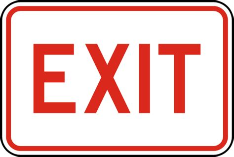exit light enter exit sign w5415 by safetysign