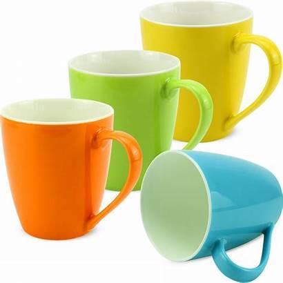 Kaffeebecher Becher Tassen Ml Porzellan Unifarben Bunt