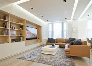 Wohnzimmer Tv Wand Ideen : tv wohnwand im modernen wohnzimmer 15 inspirierende beispiele ~ Orissabook.com Haus und Dekorationen
