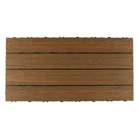 home depot flooring outdoor newtechwood ultrashield naturale 2 ft x 1 ft quick deck outdoor composite deck tile in