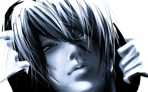 3d Anime Boy Wallpaper - daomu kylin zhang monochrome anime males boys